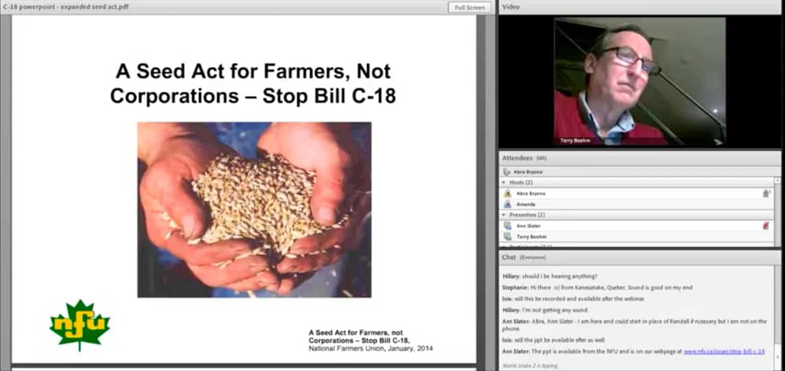 Webinar: A Seed Act for Farmers Not Corporations