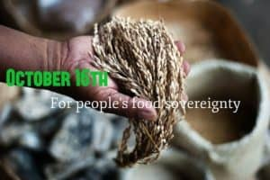People's Food Sovereignty - October 15