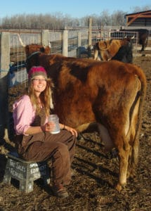 NFU Youth member Lisa Lundgard, Peace River Alberta