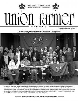 Union Farmer Quarterly: couverture de 2017 de printemps