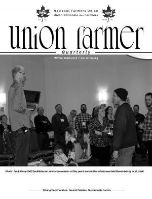 Union Farmer Quarterly: Winter 2016-17 cover