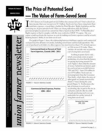 Union Farmer Newsletter – March 2013