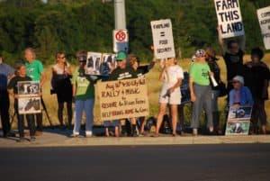 Prison farm rally