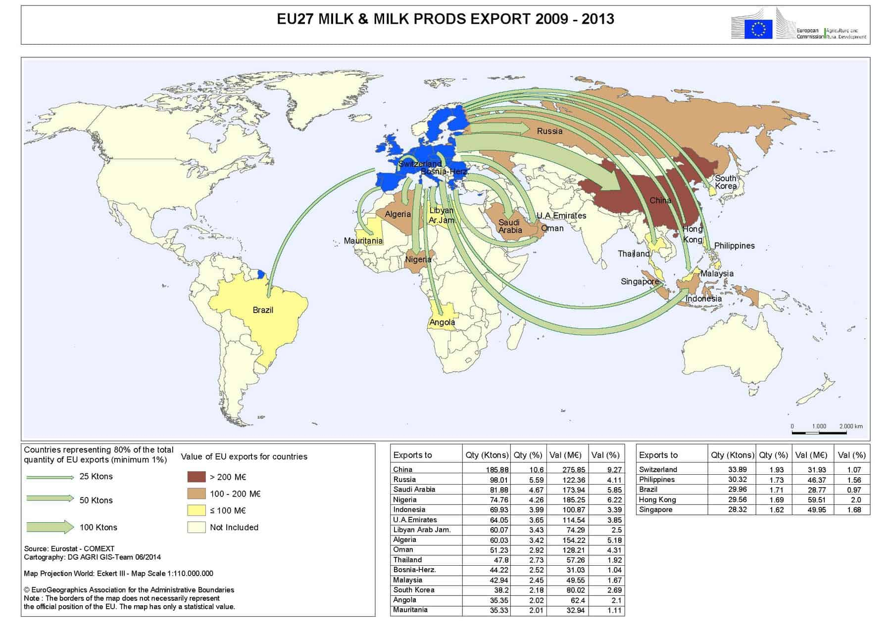 Map #1 Source: EU Agricultural Trade Statistics