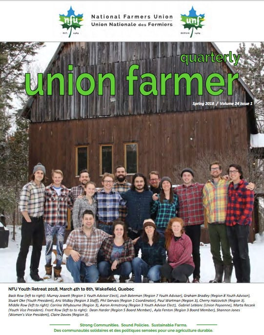 Union Farmer Quarterly: Printemps 2018