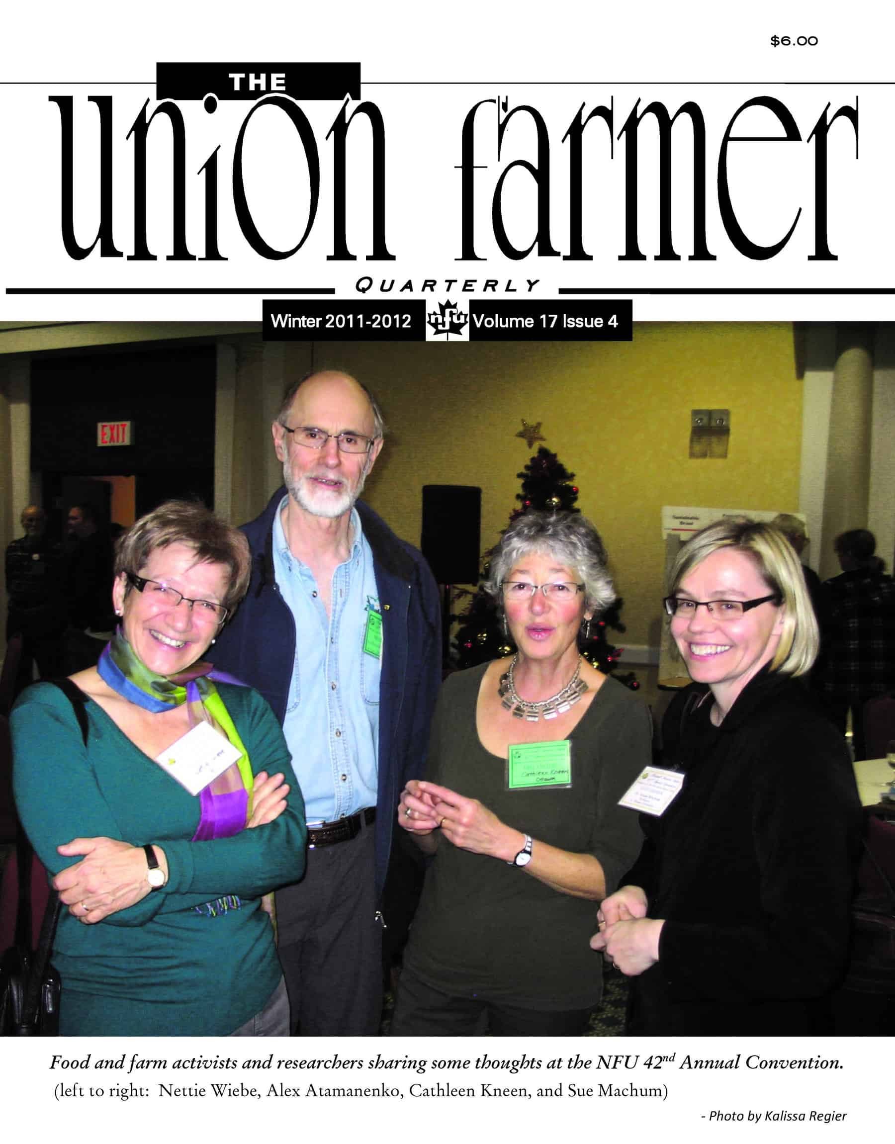 Union Farmer Quarterly: Winter 2012