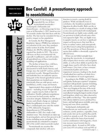 Union Farmer Newsletter - Mai - Juin 2013