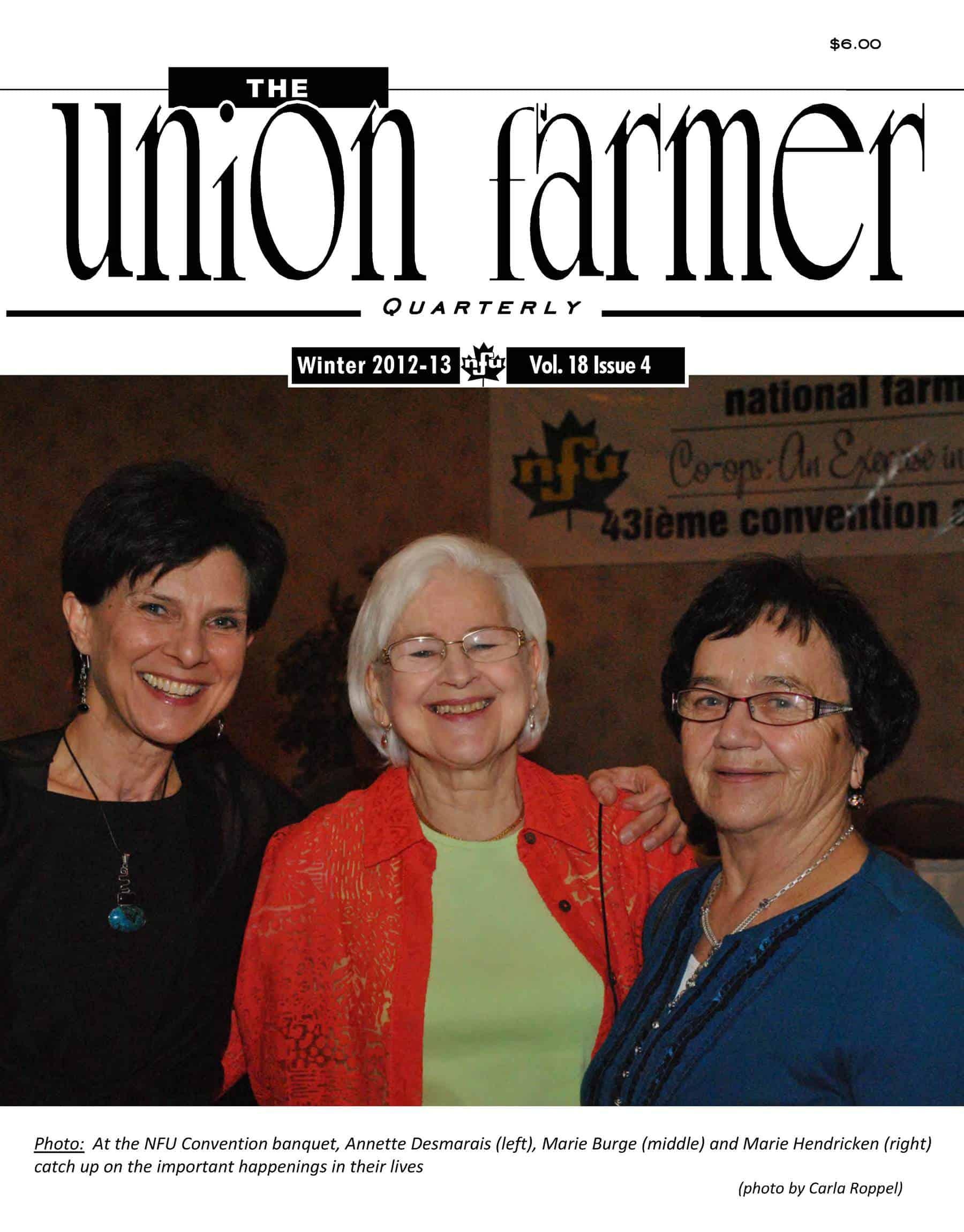 Union Farmer Quarterly: Winter 2012 – 2013