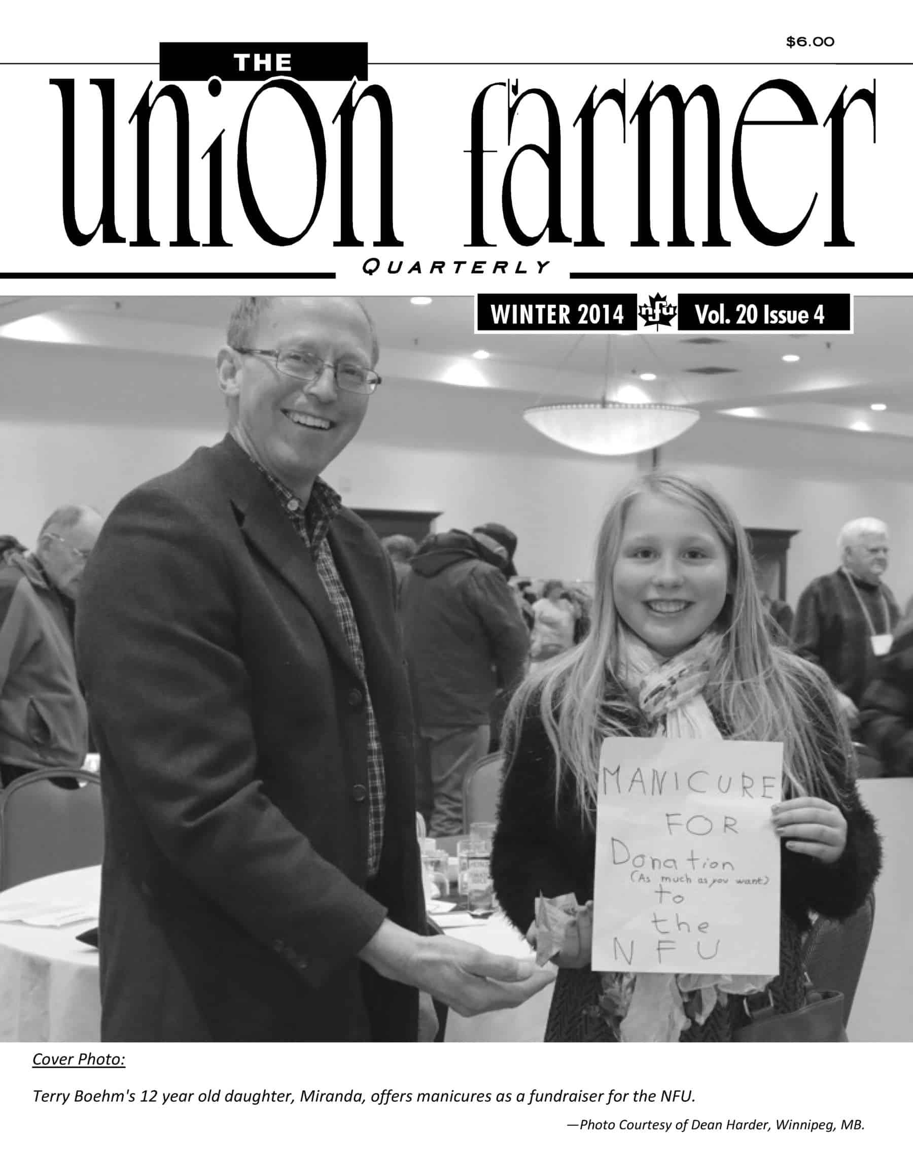 Union Farmer Quarterly: Winter 2014