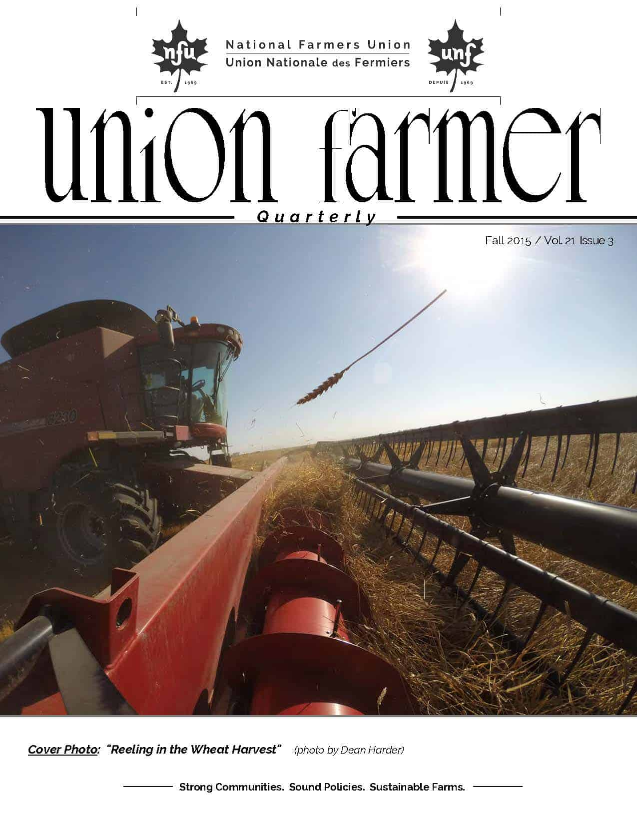 Union Farmer Quarterly: Fall 2015