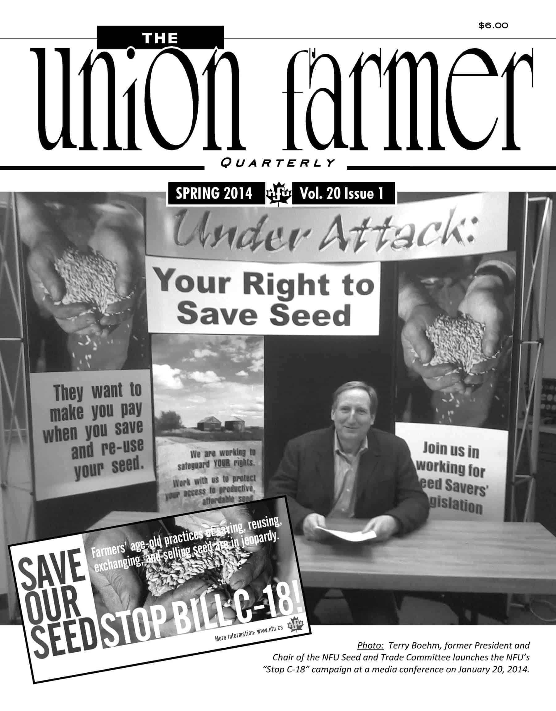 Union Farmer Quarterly: Spring 2014