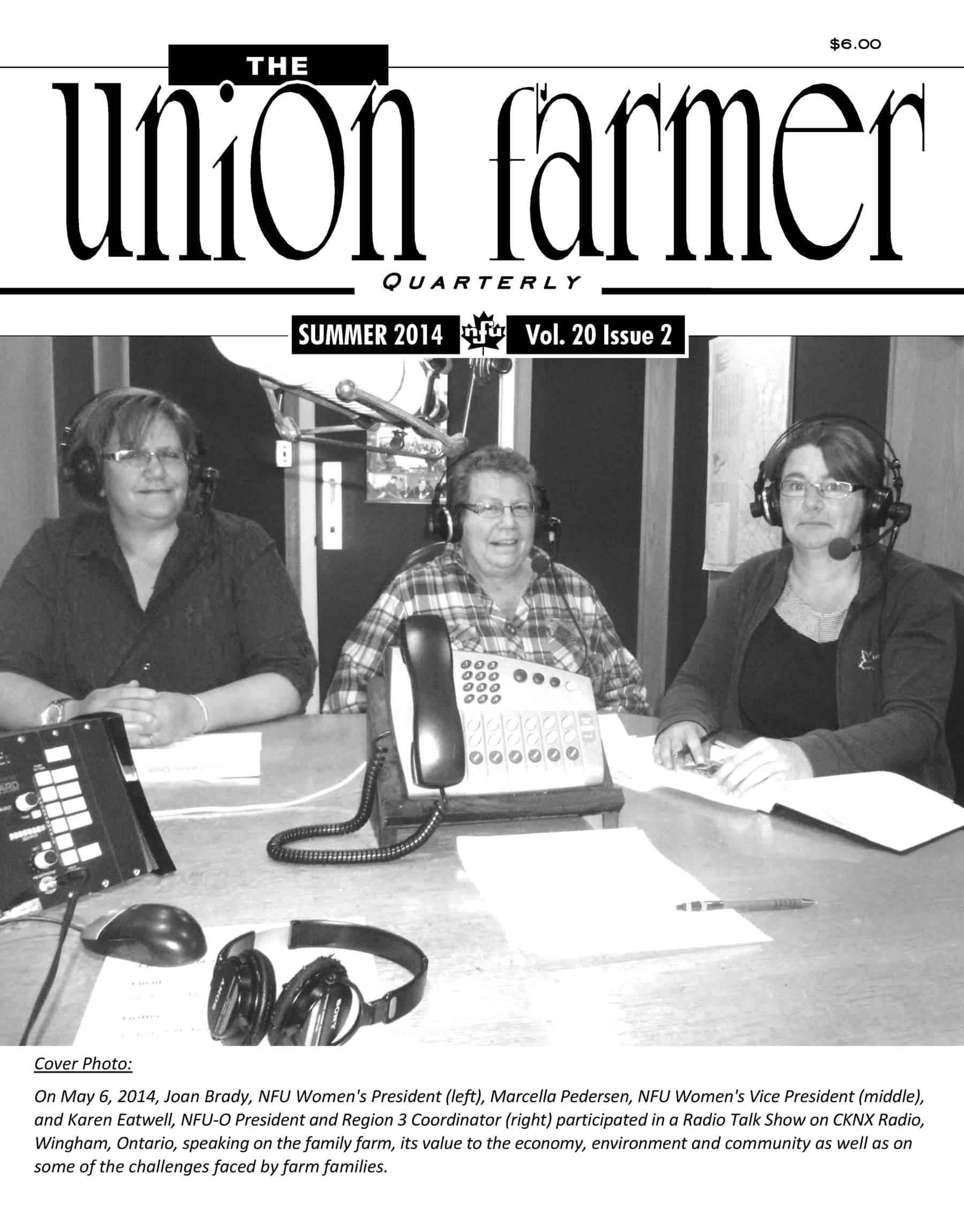 Union Farmer Quarterly: Summer 2014