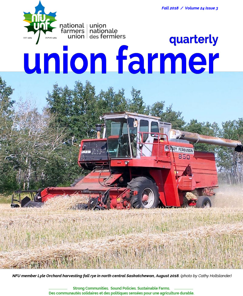 Union Farmer Quarterly: Fall 2018