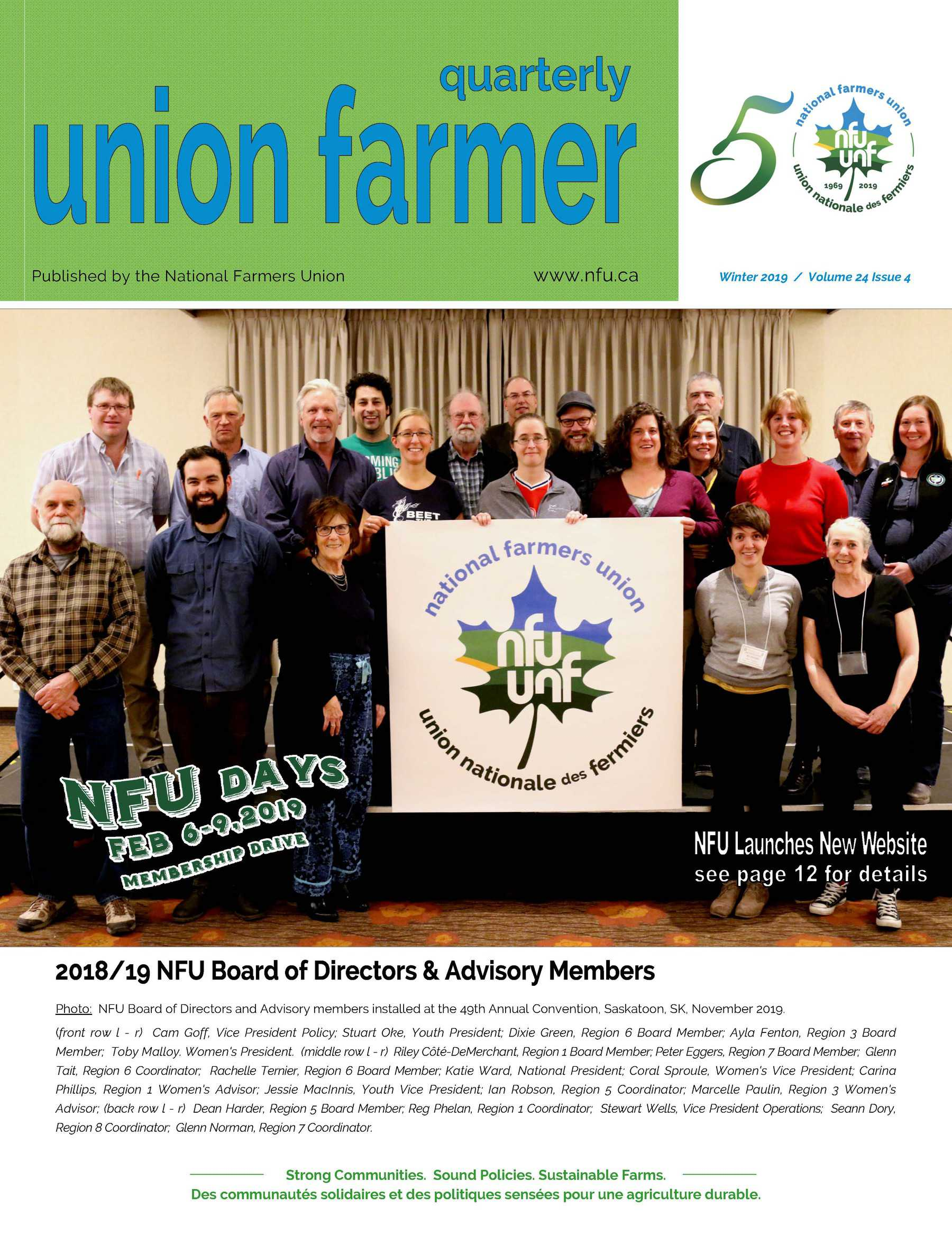 Union Farmer Quarterly: Winter 2019