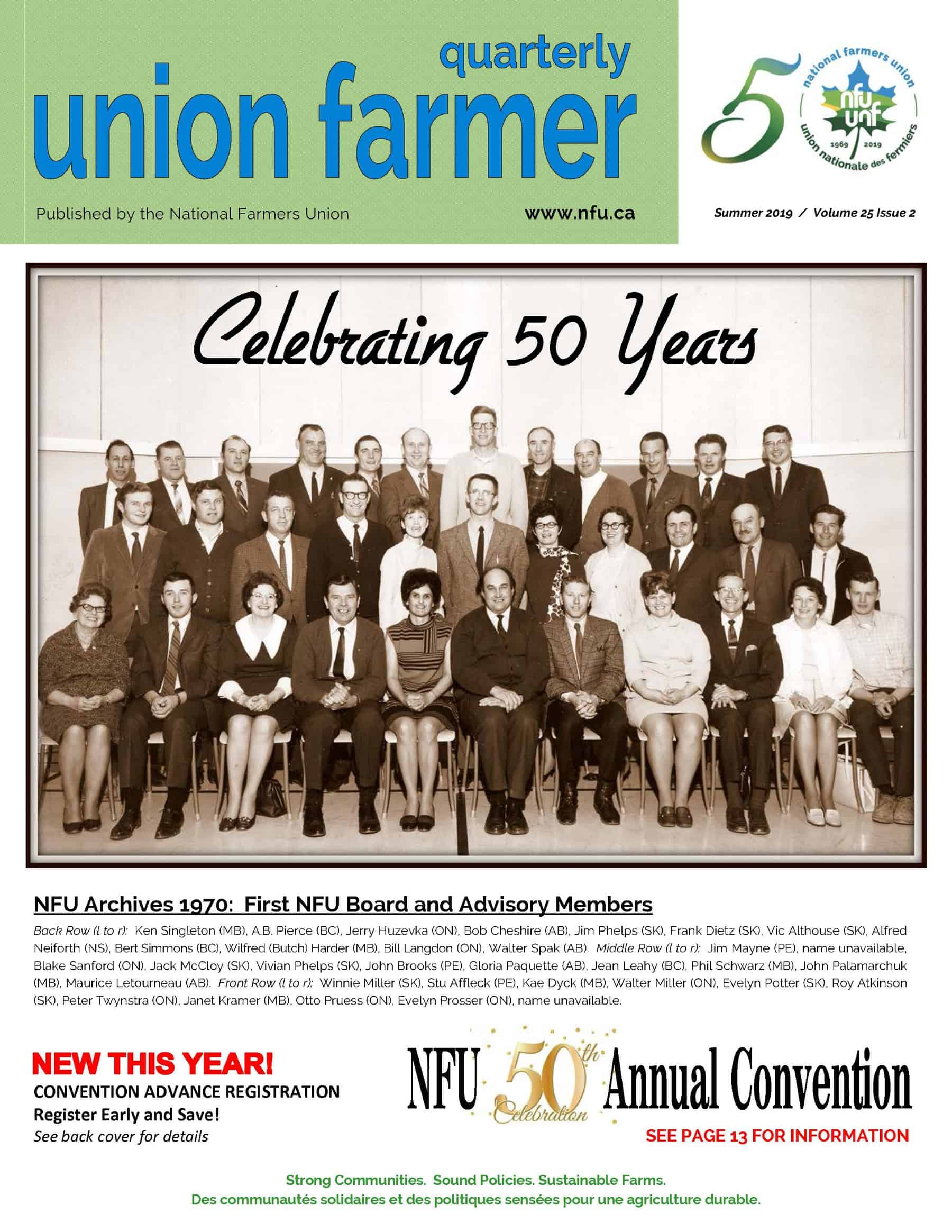 Union Farmer Quarterly: Summer 2019