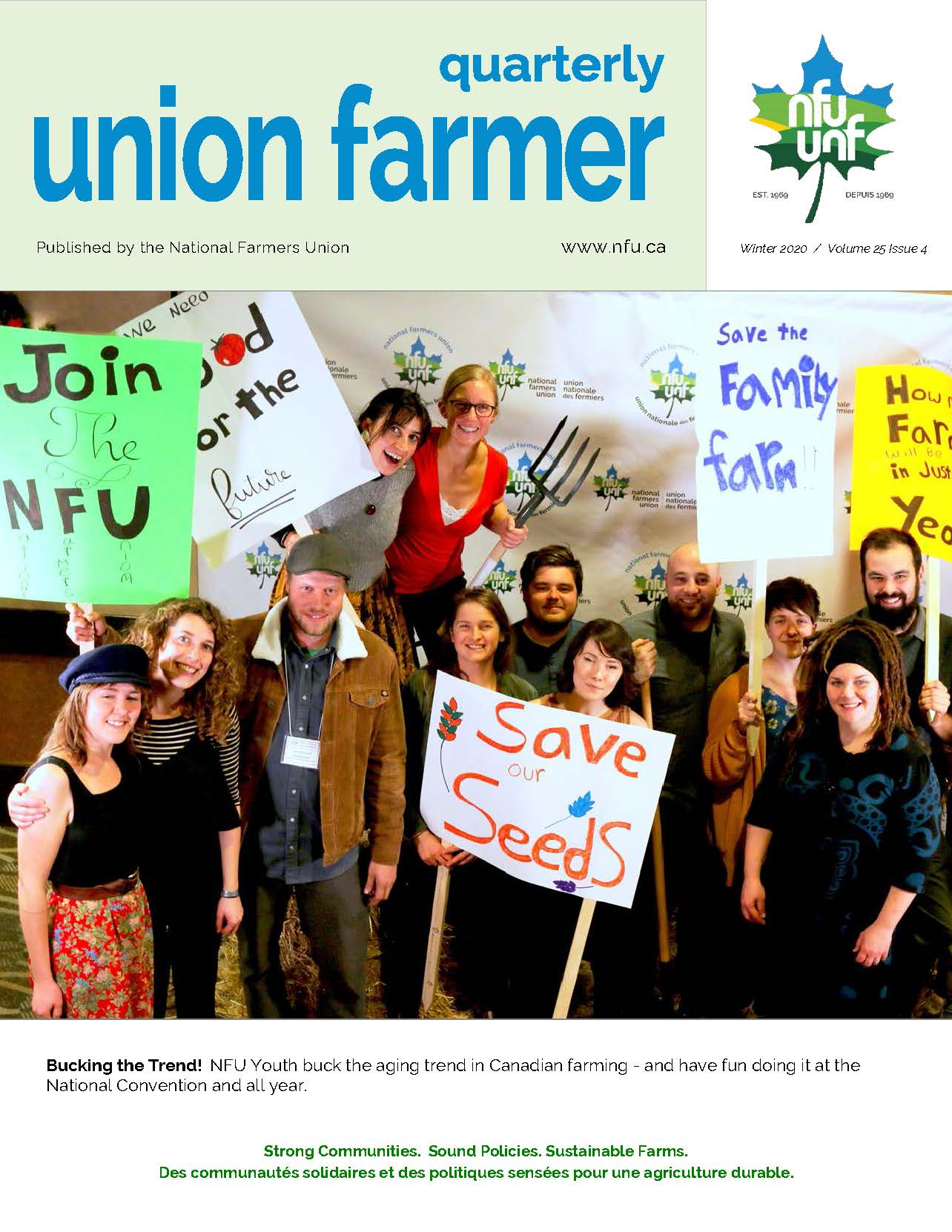 Union Farmer Quarterly: 2020 d'hiver