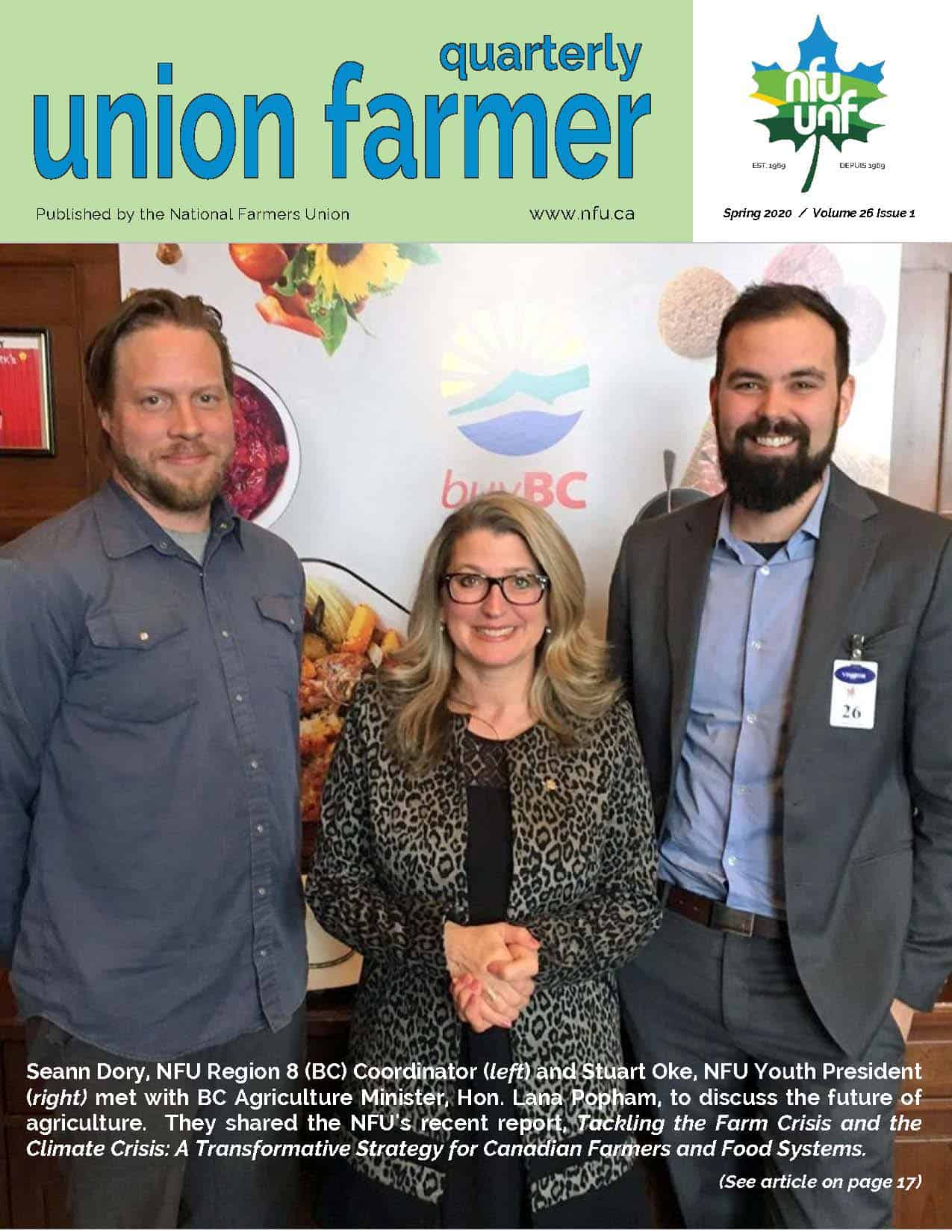 Union Farmer Quarterly: Printemps 2020