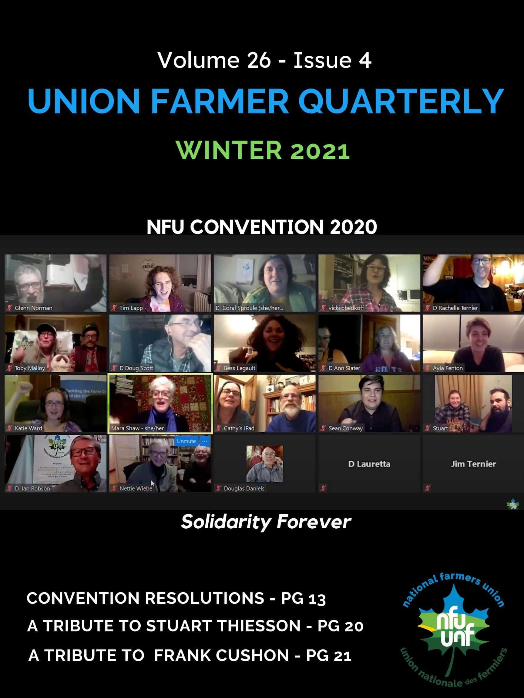 Union Farmer Quarterly:  Winter 2021