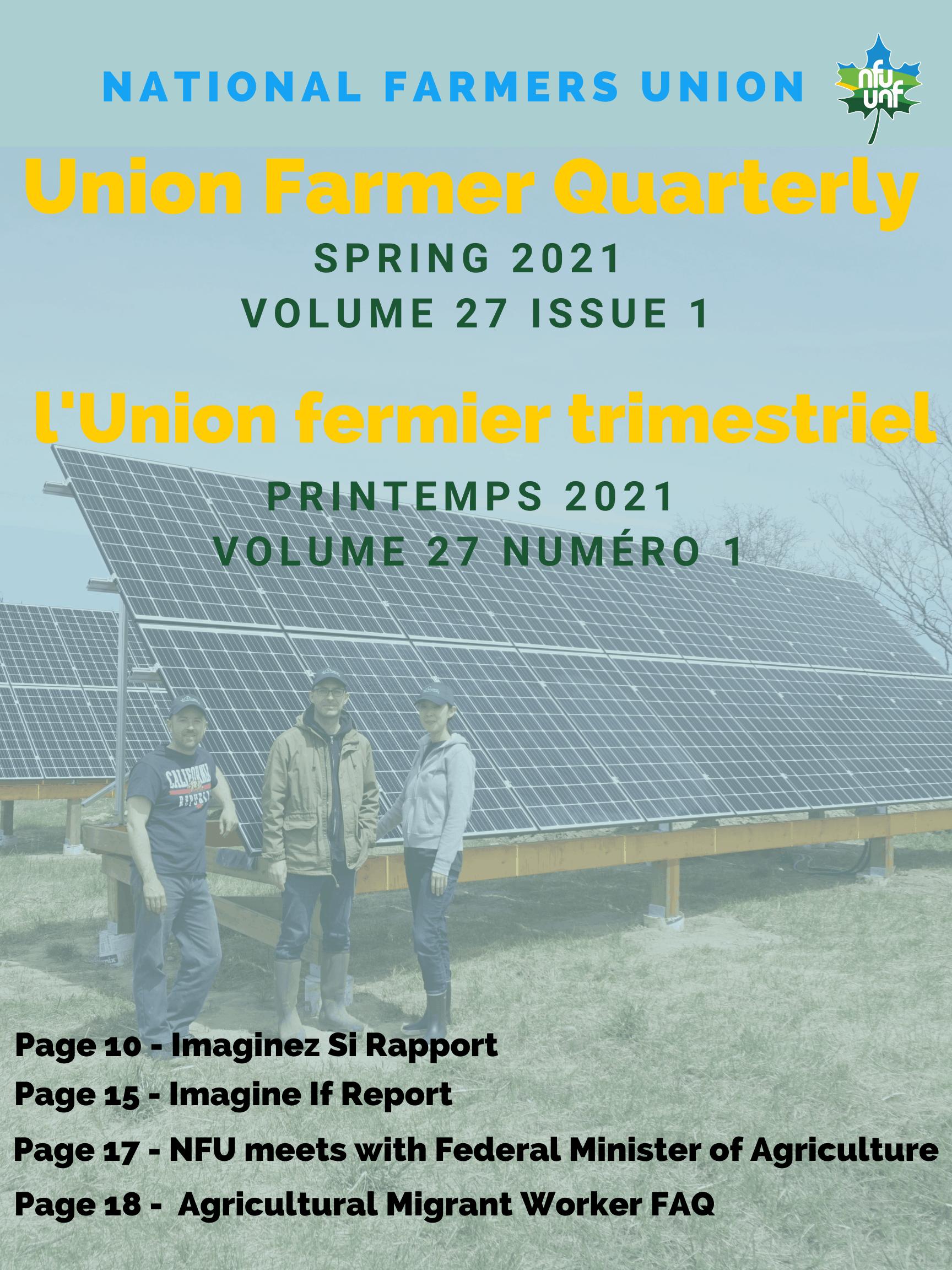 Union Farmer Quarterly: Spring 2021